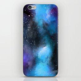 Blue Purple Galaxy Watercolor Artwork iPhone Skin