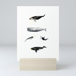 Whales Group of Five Images Mini Art Print