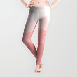 Big Sur Morning Sun - Soft Pink Geometric Abstract Leggings
