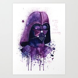 I find your lack of face disturbing Art Print