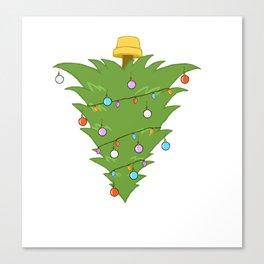 Upside Down Christmas Tree Xmas Canvas Print