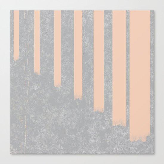 Blush stripes on concrete Canvas Print