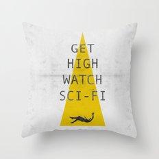 watch sci-fi Throw Pillow