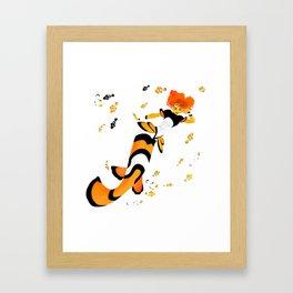 Clownfish Inspired Mermaid Framed Art Print