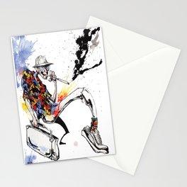 Hunter S Thompson by BINDU Stationery Cards