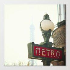 Metro in Paris Canvas Print