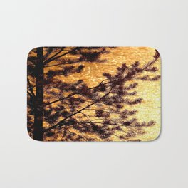 Pine Silhouette at Sunset #decor #society6 Bath Mat