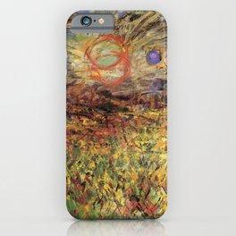 Kida Kinjiro - Falling Sun on a Field of Rape Blossoms (1955) iPhone Case