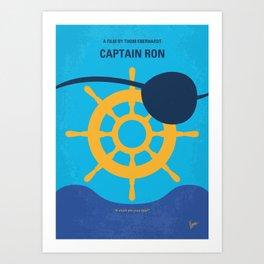 No1031 My Captain Ron minimal movie poster Art Print