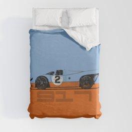 Vintage Le Mans race car livery design - 917 Duvet Cover