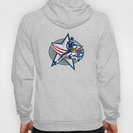 Basketball Player Fast Break Lay-Up Woodcut Hoody