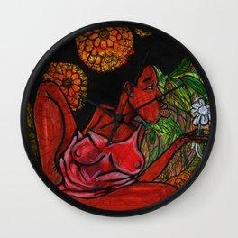 2017 Indifferent Refusal Organics art by Marcellous Lovelace Wall Clock
