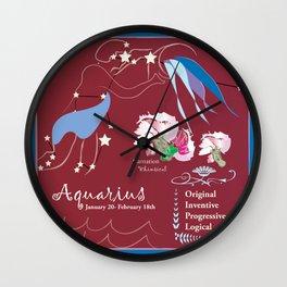 Aquarius January Wall Clock