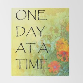 One Day at a Time (ODAT) Lilacs & Poppies Throw Blanket