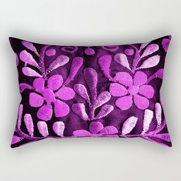 Violet Mexican Flowers Rectangular Pillow