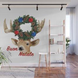 Buon Natale - italiano Merry Christmas Deer Wall Mural