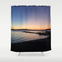 Maine - Frye Island Sunset Shower Curtain