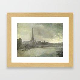 Paris, Pont d'Iéna Framed Art Print