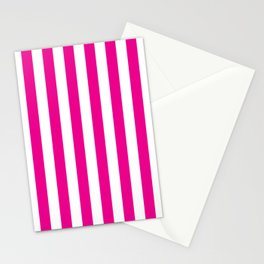 Vertical Pink Stripes Stationery Cards