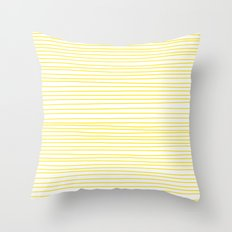 Yellow Lines dancing striped Throw Pillow