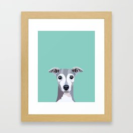 Italian Greyhound pet portrait wall art and gifts for dog breed lovers Framed Art Print