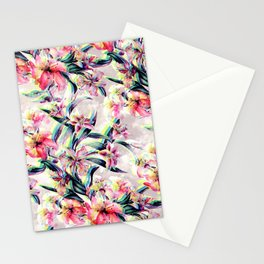 RPE Floral Glitch Stationery Cards