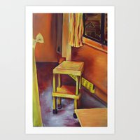 A Day in the Studio  Art Print