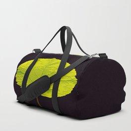 Green Leaf On A Black Background #society6 #decor #buyart Duffle Bag