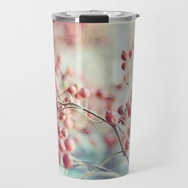 Rose Hips in a Window Still Life Autumn Botanical Travel Mug