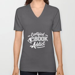 Reading Book Reading Book Reading Rat Book Unisex V-Neck