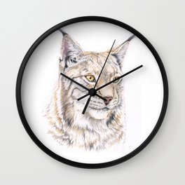 Lynx - Colored Pencil Wall Clock