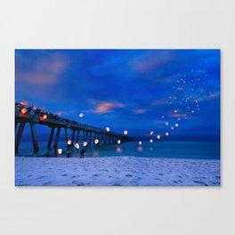 Inspirational Art Print Paper Lanterns Landscape Canvas Print