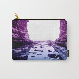 Purple Blue Lagoon Carry-All Pouch