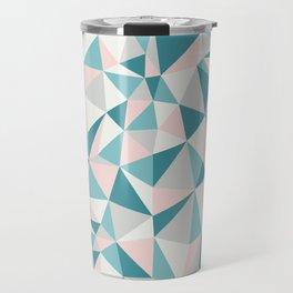 Fractured Triangle Pattern Travel Mug