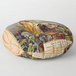 Das Rheingold Gold of Rhein Floor Pillow