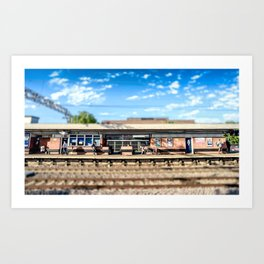 Miniature People at the Station Art Print