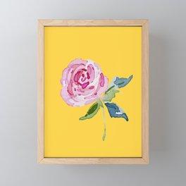 Watercolor Rose Framed Mini Art Print