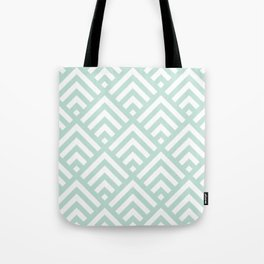 Turquoise Blue geometric art deco diamond pattern Tote Bag