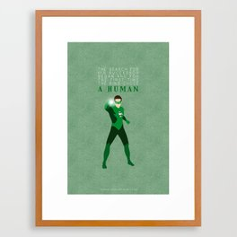 A Human Framed Art Print