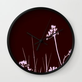 SEA PLANTS PURPURE&BROWN Wall Clock