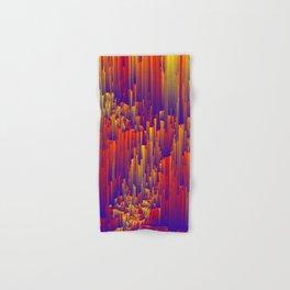 Fiery Rain - Pixel Abstract Art Hand & Bath Towel