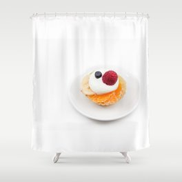 tart from fruit Shower Curtain