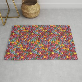 Candy-Coated Milk Chocolate Candy Pattern Rug