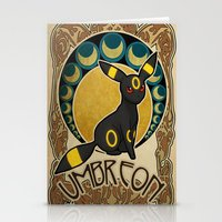 umbreon Stationery Cards featuring Umbreon by Yamilett Pimentel