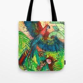 Macaw with Pitahaya, Viva la Vida Tote Bag