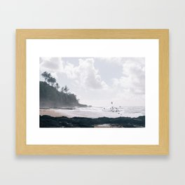 Secret Beach Framed Art Print