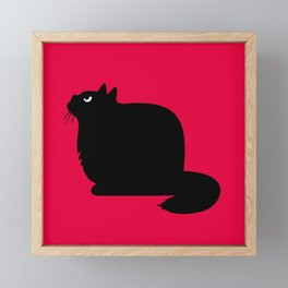 Angry Animals - Fat Cat Framed Mini Art Print