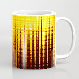 Sound wave orange Coffee Mug