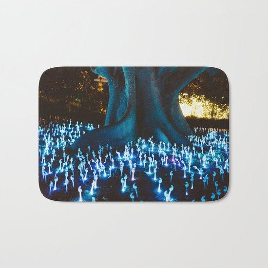 Fantasy forest with magic mushrooms Bath Mat