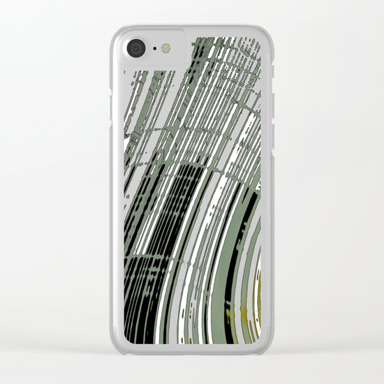 Spatial Factor 404 / Texture 03-11-16 Clear iPhone Case